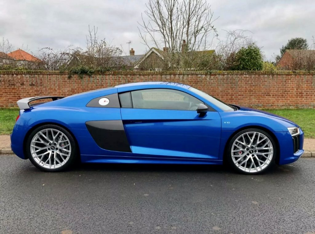 Blue Audi Waiting for South West DPF Cleaning