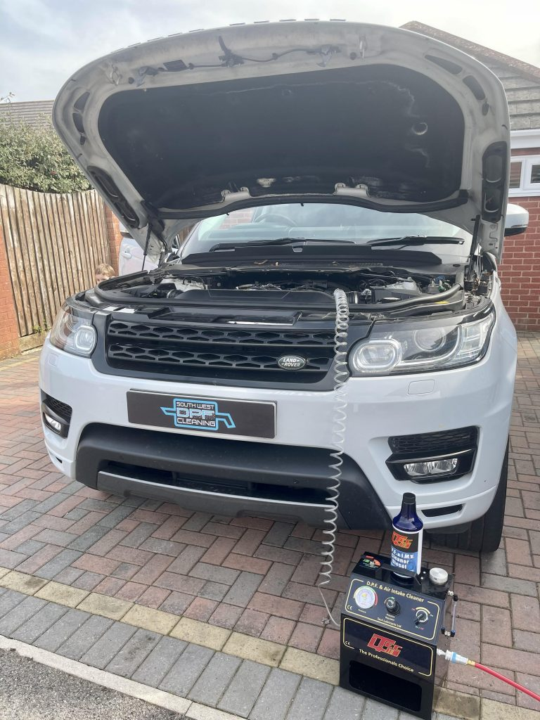 South west DPF cleaning in action, Landrover being cleaned